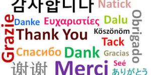 Dank alle talen MK Vertalingen