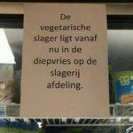 taalfoutjes vegetarische slager in diepvries